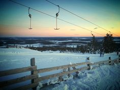 #sunset #skilift #skiing #snow #view #beautiful #lapland #finland