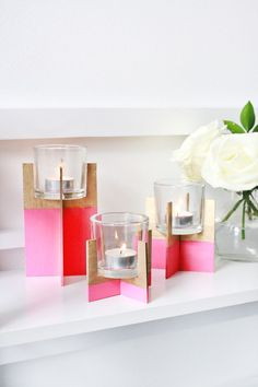 #DIY candle holder
