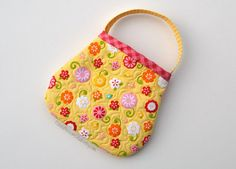 Toddler purse quilted in yellow Riley Blake by PotatoBlossomStudio, $22.00