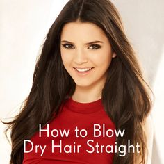 Check out the Dirty Looks blog to find out how to blow dry hair straight... http://dirtylooks.com/blog/how-to-blow-dry-hair-straight