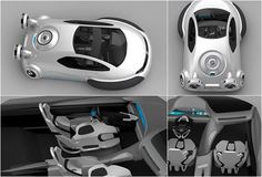 Imagined by young Chinese designer, 21 year old Yuhan Zhang, a recent graduate in Industrial Design with honors from the University Xihua-China, the Volkswagen Aqua is an amazing concept, a hybrid vehicle half way between a car and a hovercraft. Th