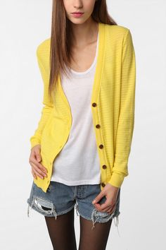 BDG Drop Stitch Classic Cardigan... You can NEVER go wrong with a cardigan...never.