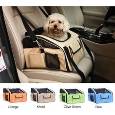 Pettom Pet Car Seat Carrier Airline Approved Dog Cat Lookout Booster Seat for Pets up to 15 lbs (Small, Grey) Dog Travel Carrier, Cat Carrier, Sling Carrier, Pet Booster Seat, Dog Playpen, Pet Car Seat, Seat Auto, Pet Bag, Oxford