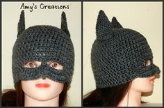 Crochet Batman Hat (All Sizes) I made this Batman Hat for my 7 year old daughter who loves this kind of stuff! I hope you enjoy! Enjoy Crochet Free Patterns! If you tell others about my work, please only link back to my blog, but don't copy my pattern to your site. Also you can sell anything you