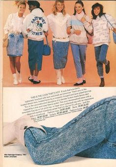 ce91e4f6f82 Kmart- Teen Magazine August 1987 Fashion Advertorial Clothes I bought the  white fringe boots (that the girl in the skirt is wearing) for my senior  year.