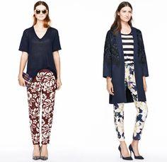 J.Crew 2014 Spring Womens Presentation - New York Fashion Week - Denim Jacket Shorts Flowers Floral Tropical Prints Nautical Stripes Parka W...