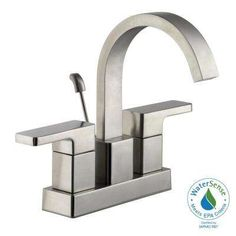 Marx 4 in. Centerset 2-Handle High-Arc Bathroom Faucet in Brushed Nickel