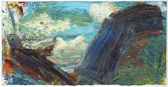Ying Li, Valle Onsernone #6 (Puffy Clouds), 2013, oil on linen, 10 x 20 inches (courtesy of the artist)