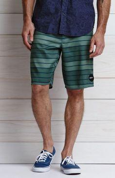 RVCA Faze Micro Stripe Boardshorts - Mens Board Shorts - Blue