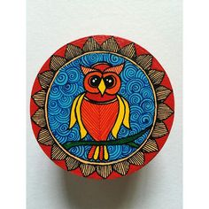 Madhubani Hand-Painted Trinket Box Arte Tribal, Tribal Art, Mural Painting, Fabric Painting, Madhubani Art, Indian Folk Art, Indian Art Paintings, Madhubani Painting, Plate Art