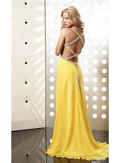 Yellow Cheap Prom Dresses 109
