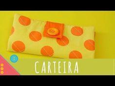 Descomplica! Aprenda a costurar um porta cartões ou carteira de tecido passo a passo - YouTube