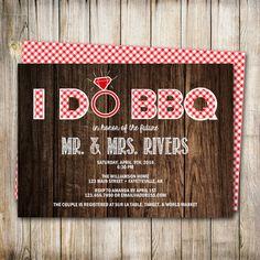 I Do BBQ, Couples Shower Invitation, Wedding Shower, Shower, Bridal Shower, BBQ Invite, I Do Barbecue, Printable