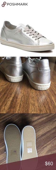 Dolce Vita women's sneakers Silver metallic sneakers.  'Xavi' model. NWOT Dolce Vita Shoes Sneakers