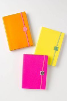 Colorful notebooks.