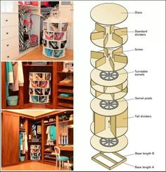 Amazing Interior Design This DIY Lazy Susan Shoe Rack is Just Awesome for Shoe Storage Shoe Storage Rack, Diy Shoe Rack, Diy Storage, Shoe Racks, Storage Ideas, Storage Design, Diy Shoe Organizer, Movie Storage, Diy Shelving