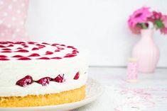 Himbeer-Quark Torte | Mein Naschglück Vanilla Cake, Food And Drink, Sweets, Desserts, Recipes, Cake Ideas, Dessert Ideas, Backen, Biscuit