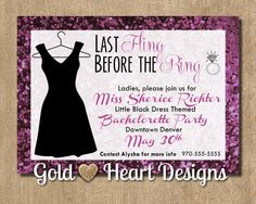 Hey, I found this really awesome Etsy listing at https://www.etsy.com/listing/189937122/little-black-dress-bachelorette-party