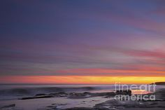 Colorful Ocean Sunset At Twilight Photograph by Jo Ann Tomaselli - Colorful Ocean Sunset At Twilight Fine Art Prints and Posters for Sale