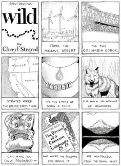 Wild: From Lost to Found on the Pacific Crest Trail by Cheryl Strayed : | 9 Gorgeous Illustrated Book Reviews That You Have To See