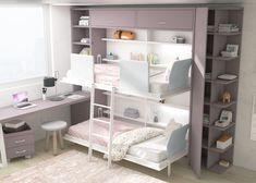 0343_ABAT061_B_1500 Bunk Beds, Kids Bedroom, Loft, Table, Furniture, Home Decor, Bunk Bed Rooms, Bunk Rooms, Bedroom Cabinets