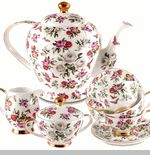 Butterfly Fields Bone China Tea Set