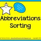 Sort, sort, sort! My students LOVE to cut and sort. Engage your students too with this 15 page hands-on abbreviations words activity OR use it as a...
