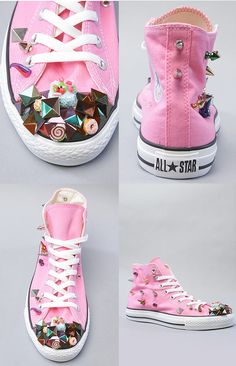 Rivet Candy cake donuts canvas shoes #Romwe