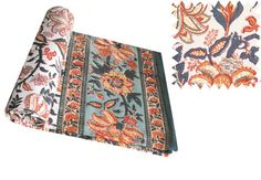 Printed Cotton Table Cloths by Chandni Chowk. Hand made in India, Fair Trade furnishings.