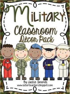 Military Classroom Decor Pack: When you download this Military Themed Classroom Décor pack, you will find 259 pages full of classroom décor perfect for anyone who would like to redecorate their classroom or decorate their classroom for the very first time. This pack has everything you could need to set up your room in an adorable military theme!