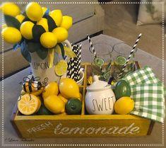 Rae Dunn Lemonade Crate Display! By: Laura Beining-Tollander