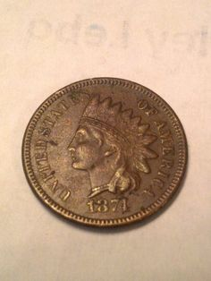 1874 key date indian head penny high grade by DrewsCollectibles, $100.00