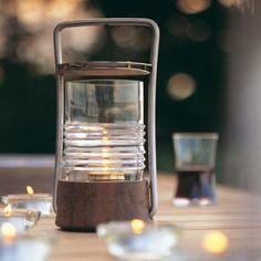 Bollard Oil Lamp by Skagerak Hardwood Furniture, Upholstered Furniture, Royal Botania, Modern Outdoor Furniture, Oil Lamps, Danish Design, Outdoor Lighting, Lanterns, Candle Holders