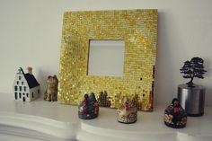 DIY: Gold Mosaic Mirror