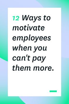 Sure, money can motivate your employees, but sometimes you can't afford to pay people more or offer huge bonuses. Here are 12 other ways you can motivate employees. Some of them are even more effective than money! Inspiration recommendations perform an e Leadership Coaching, Leadership Development, Leadership Activities, Nursing Leadership, Strategic Leadership, Leadership Lessons, School Leadership, Leadership Qualities, Leadership Roles