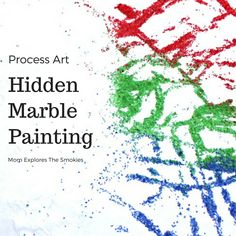 Hidden Marble Painting Process Art, Mom Explores The Smokies This fun process art marble painting project, slyly unveils a hidden surprise that is sure to delight and enchant even the pickiest of kids. Marble Painting, Marble Art, Process Art, Painting Process, Painting For Kids, Art For Kids, Big Kids, Weaving Process, Bottle Painting