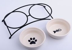 Double Ceramic Pet Feeder Bowls ! Order yours here ➩➩       http://amzn.to/2pXhbFa