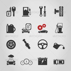 Car icon4590.jpg (590×590) These are very suitable icons for use within the UI; distinguishable, and allowing for easy site navigation.