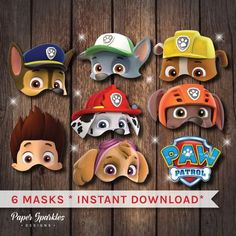 Art Can Be Made Naps May Be Had — Paw patrol masks, Paw patrol ...