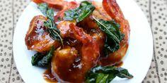 Crevettes marinées et sautées à l'asiatique