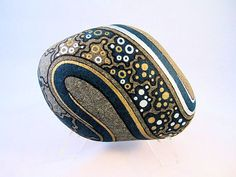 Unique Hand Painted Rock, 3D Art Object, Signed Numbered Art, Galaxy Design, Decor & Housewares, Ornament, Office Decor, Gift for Him or Her