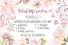 Watercolor wedding clip art bundle I by Lolly's Lane Shoppe on @creativemarket