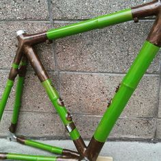 Just finished road bike frame, special treated bamboo poles from Kyoto, custom geometry and hand painting. Handmade in Osaka, Japan.#緑 #竹 #竹自転車 #kyoto #ロードバイク #塗装  #green #bikeporn #bici #bicycle #bicycleporn #ciclismo #cycling #roadbike #japan #handcraft #framebuilding #painting #custompaint #gerworks