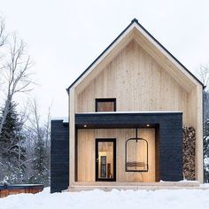 """3,907 Likes, 118 Comments - Salt Box Collective (@saltboxcollective) on Instagram: """"Woke up to a fresh coat of snow and it's got us dreaming of modern cabins in the mountains 😍…"""""""