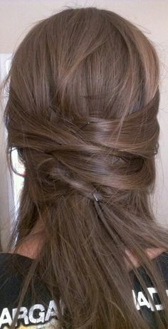 Half up half down hairstyle for work