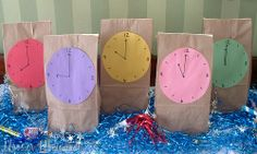 idea for teaching children to tell time?  I mean as they learn and identify time on clock they get a treat??  Use mini bags.. Focus on hour- 15- 1/2 hour and 45 min increments??
