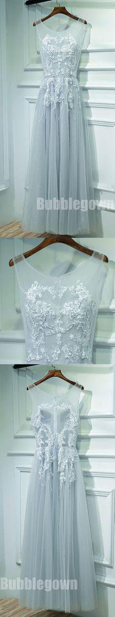 Cheap Tulle Applique Floor Length Formal Popular Long Prom Dresses, BGP012 #promdress