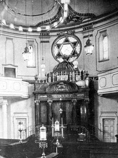 The Ark and Bima (prayer platform) in the Regensburg Synagogue. The Jewish community in Regensburg, Bavaria existed as far back as the 11th century. Almost half of Regensburg's Jews left Germany before the outbreak of the war. The remaining Jews were deported to ghettos in Poland as well as the Theresienstadt ghetto; most of them were murdered in the Holocaust.
