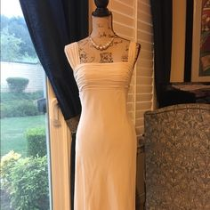 BCBG Maxarzria dress size 2, 100% silk Almost new, worn once, gorgeous 100% silk dress with polyester lining in a light nude/beige color BCBGMaxAzria Dresses Asymmetrical