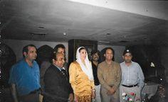 Benazir Bhutto and Karim My student from Karachi school of Arts,